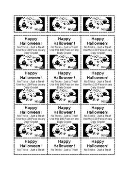 100 Pass Template - Halloween Theme