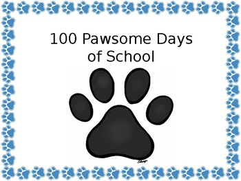 100 Pawsome Days of School