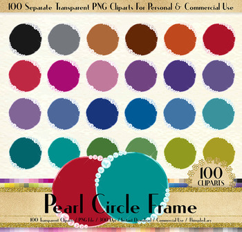 100 Pearl Circle Frame Clip Arts Luxury Jewelry Frames