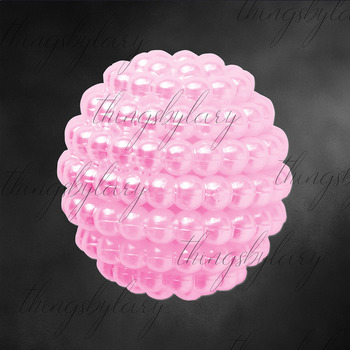 100 Pearl Pomander Digital Clip Art Jewelry Pearl Ball Images