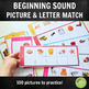 100 Pictures and Beginning Letter Matching Activity