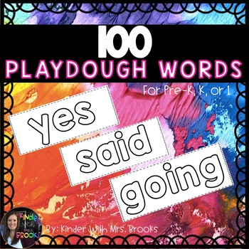 100 Playdough Words