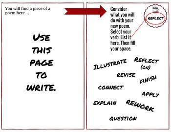 100 Poems to Write Creative Writing Journal, Responsive ELA Notebook