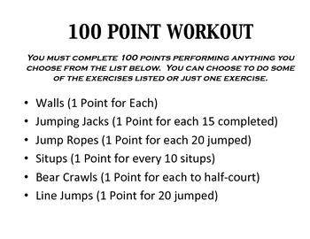 100 Point Fitness Workout