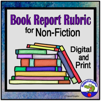 100 Points Book Report Rubric for Nonfiction Texts
