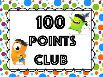 100 Points Club for ClassDojo