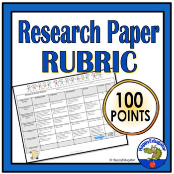 100 Points Research Paper Rubric