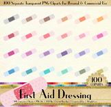 100 Polka Dot First Aid Dressing Clip Arts Medical Clip Art