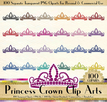 100 Princess Crown Tiara Clip Arts Fairy Tale Princess Royal