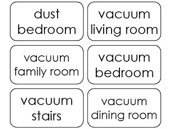 100 Printable Chores and Daily Routines Word Flashcards. Child Responsibilities.