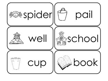 100 Printable Environment Picture Word Flash Cards. Preschool Flash Cards.