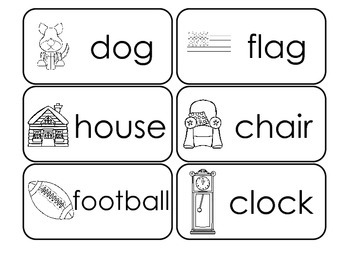 100 Printable Environment Picture Word Flash Cards. Presch