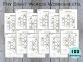 100 Printable Honey Comb Fry Sight Words Worksheets for Ki