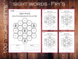 100 Printable Honey Comb Fry Sight Words Worksheets for To