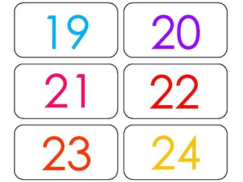 100 Printable Rainbow Numbers Flashcards. Numbers and Counting.