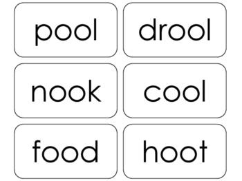 100 Printable Special Vowel Sounds Flashcards. ELA, Phonics, Reading.