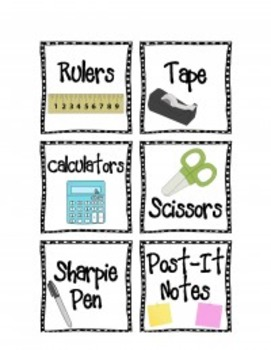 100+ Printable Word and Picture Classroom Label Pack