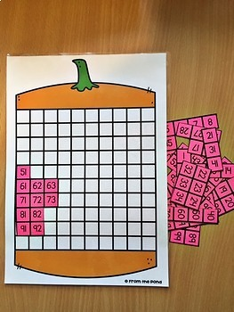 100 Chart Activity {Pumpkin}