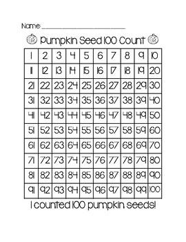 100 Pumpkin Seeds Counting - Freebie