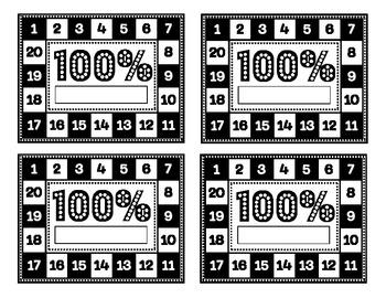 100% Punch Card Incentive for AR, KidBiz, tests, etc.