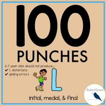 100 Punches: L Artic Speech Therapy Blends, Initial, Media