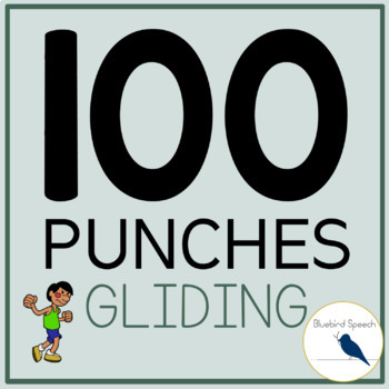 100 Punches: R Articulation & Speech Therapy - Gliding in Initial/Medial/Final