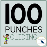 100 Punches: L & R Articulation Speech Therapy - Gliding in Initial/Medial/Final