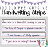 100 QLD Pre-Cursive Handwriting Strips