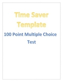 100 Question Multiple Choice Quiz, Test, Assessment Template
