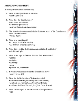 Crafty image for printable united states citizenship test