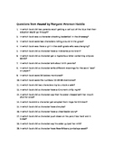 100 Questions from Found by Margaret Peterson Haddix