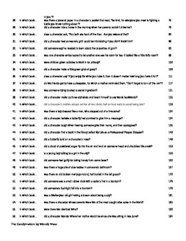 100 Questions from The Candymakers by Wendy Mass