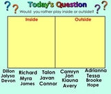 100 Questions of the Day for Smartboard-Kindergarten