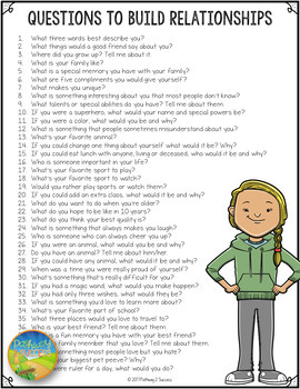 100+ Questions to Build Relationships