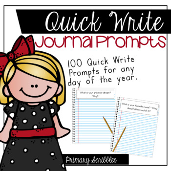 100 Quick Write Journal Prompts