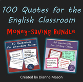 100 Quotes for the English Classroom Bundle
