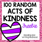 100 Random Acts of Kindness FREEBIE