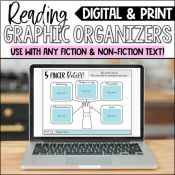 Reading Comprehension Organizers for Any Text