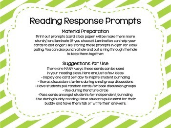 100 Reading Response Prompts