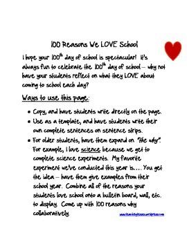100 Reasons We LOVE School