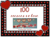 100 Reasons We Love... Bulletin Board Idea