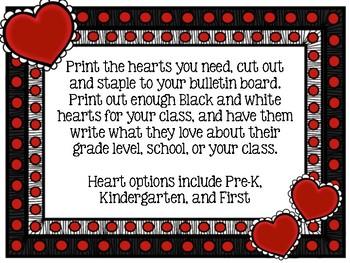 100 Reasons We Love... Bulletin Board Idea