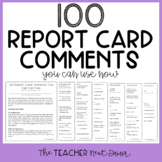 100 Report Card Comments You Can Use Now Freebie