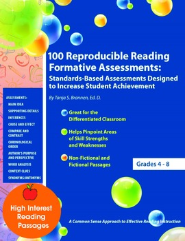 100 Reproducible Reading Formative Assessments Portfolio A