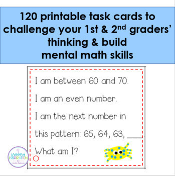 First & Second Grade Math 120 Riddle Cards for the 120 Chart Set 1