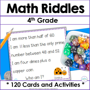 Fourth Grade and Fifth Grade Math Riddle Cards