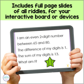 Third Grade Math Riddle Cards By Primary Inspiration By