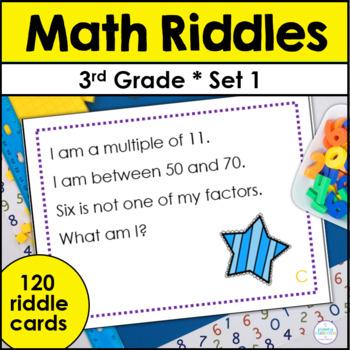 Third Grade Math Riddle Task Cards