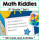 Third Grade Spiral Math Review Task Cards