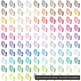 100 Romantic Shabby Chic Watercolor Butterfly Side View Clip Arts